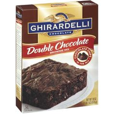 Ghirardelli Chocolate Double Chocolate Brownie Mix 18 Ounce | Jet.com