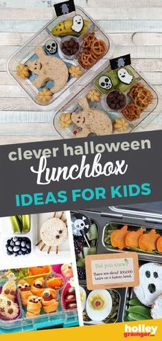 I've unleashed the flying monkeys to bring you 13 clever Halloween lunchbox ideas for kids. From hot dog worms to fruit vipers, there's something in here to light up your zombie brain to help make a Halloween lunchbox something spookily special. Healthy Holiday Recipes, Healthy Meals For Kids, Kids Meals, Easy Halloween Snacks, Scary Halloween, Healthy Halloween, Halloween Party, Halloween Adventure, Worms In Dogs