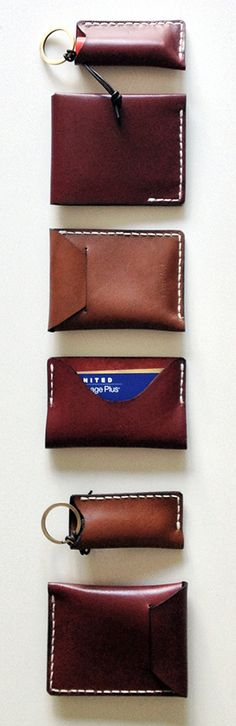 handmade small leather goods | wallet, cardholder, card case, key case, men wallet