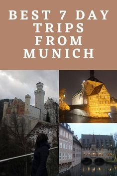 Best 7 day trips from Munich Bavaria Germany Destinations, Travel Destinations, Ways To Travel, Best Places To Travel, Germany In Winter, Underground Tour, Neuschwanstein Castle, Fairytale Castle, Countries To Visit