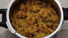 Prawns pulav recipe| రుచికరమైన రొయ్యల పులావ్ కుక్కర్లో ఇలా చేయండి | Prawns pulav in cooker | - YouTube