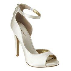 P Toe Dorsay Pump With Ankle Wrap Back Zipper Closure 4 Heel Platform Nine West Shoes