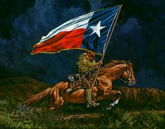 """""""Lone Star"""" by Kenneth Wyatt. I need to add this to my collection. Eyes Of Texas, Republic Of Texas, Lubbock Texas, Art Easel, Southwestern Art, Loving Texas, Old Hollywood Glam, Texas History, Cowboy Art"""