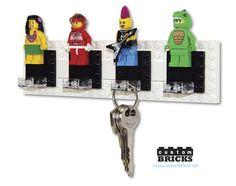 customBRICKS: Lego Minifigure 4 Post Key Hanger