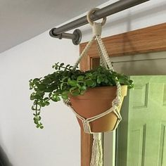 Katie Wedvick added a photo of their purchase Modern Macrame, Modern Boho, Pot Hanger, Wall Hanger, Macrame Plant Holder, Plant Holders, Indoor Garden, Garden Pots, Hygge
