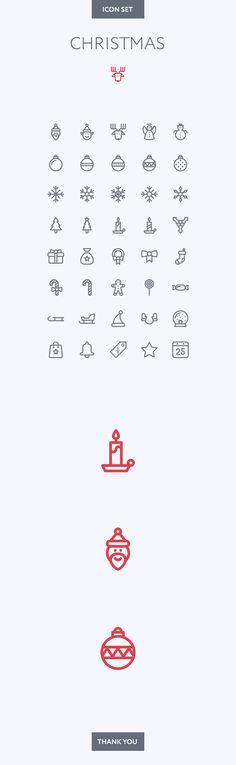Xmas icon set on Behance