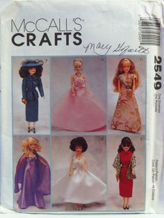 "McCall's 2549 11½"" Fashion Doll Clothes"