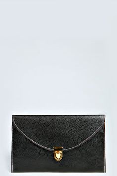 Lily Clasp Fasten Clutch Bag at boohoo.com