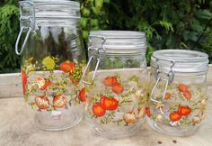Retro 70s Kitchen Storage JarsSet of Three by TheVintageTrekker, $30.00