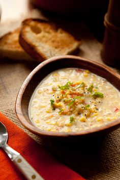 Vegetarian Corn Chowder.  I missed the meat but w the cracked pepper on top I'd make this one again.  It was nice and quick  Note: I used fresh herbs