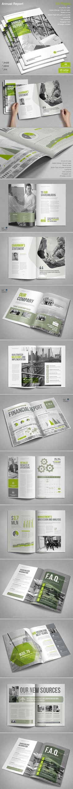 Annual Report Template #design Download: http://graphicriver.net/item/annual-report/13169034?ref=ksioks