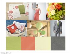 coral and grey wedding ideas - Google Search