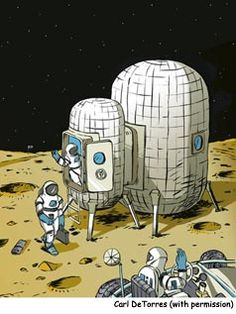 Create a moon habitat at school.