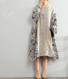 linen dress Loose Oversize Dress/ Linen large #clothing #women #dress @EtsyMktgTool #loosedress #linendress #longdress #oversizedress