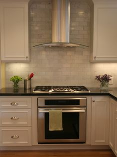 Kitchen Absolute Black Granite Countertop Carrera Marble Backsplash Design, Pictures, Remodel, Decor and Ideas - page 4