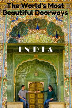 The world's most beautiful doorways are on full, colorful display during travel through India! Check out these beautiful photos from the City Palace of Jaipur.