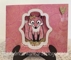 Painted Mountain Cards: C4C-371 Valentine Fox Window Pop-Up Card