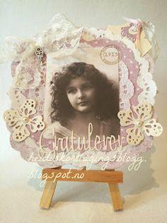 Heidis kortlagingsblogg: Konfirmasjon vintage jente