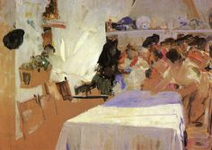 "joaquín sorolla y bastida - ""the christening"" (study), 1899, oil on canvas."