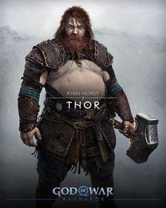 Ryan Hurst, Kratos God Of War, Santa Monica Studios, World's Strongest Man, Arte Obscura, New Gods, Norse Mythology, Chris Hemsworth, Art Gallery