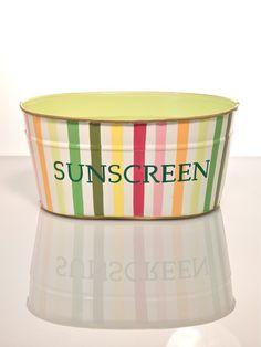 """Bayshore Stripe Multi """"Sunscreen"""" Tub"""