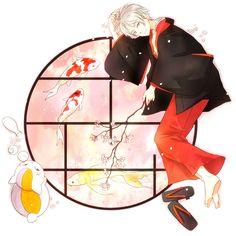 Tags: Anime, Natsume Yuujinchou, Pixiv, Nyanko-sensei, Natsume Takashi | Brain's Base | Yuki Midorikawa