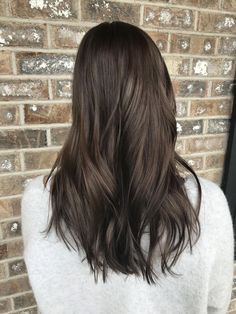 Long Dark Brown Shag with Textured Bangs - 20 Stunning Long Dark Brown Hair Cuts and Styles - The Trending Hairstyle Brown Hair Cuts, Brown Hair Looks, Golden Brown Hair, Light Brown Hair, Dark Hair, Medium Brown Hair, Brown Hair With Blonde Highlights, Brown Hair Balayage, Hair Highlights