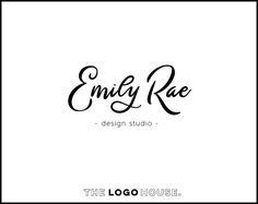 Simple Script Logo, Curvy Font Logo, Feminine Photography Logo, Signature Logo, Makeup Artist Logo, Curly Font Logo, Handwritten Logo