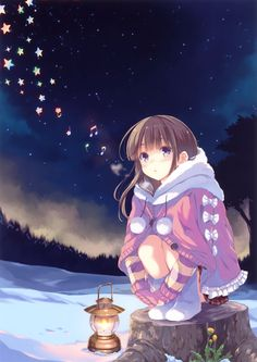 Christmas Anime girl