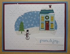 Holiday Home  www.stampingwithlinda.com Make sure to check out my Stamp of the Month Kit Linda Bauwin – CARD-iologist  Helping you create cards from the heart.