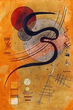 The artwork Launelinie - Wassily Kandinsky we deliver as art print on canvas, poster, plate or finest hand made paper. Kadinsky Art, Art Kandinsky, Wassily Kandinsky Paintings, Picasso Paintings, Abstract Painters, Abstract Art, Abstract Landscape, Art Moderne, Russian Art