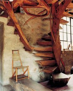 Wharton Esherick home & studio, Paoli, PA...love the stairs