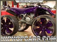 Custom ATV tricked out with big 24 inch rims, the four wheeler is nice. Nitro Circus, Monster Energy, Monster Jam, Triumph Motorcycles, Ducati, Mopar, Motocross, Pimped Out Cars, Cabanas