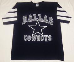 df25e8aef Vintage 1993 DALLAS COWBOYS Jersey Style Shirt XL LOGO 7 Made in USA