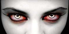 The scarier you are, the worse for your health when it comes to Halloween costumes. Food and Drug Administration is warning consumers about the horror of wearing colored contact lenses with Halloween around the bend. Vampire Eyes, Vampire Love, Vampire Art, Real Vampires, Vampires And Werewolves, Halloween Contacts, Halloween Eyes, Halloween Costumes, Halloween Makeup