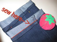 Keep the original hem.  Sew easy!  Why spend 20.00 for a pro to do it?