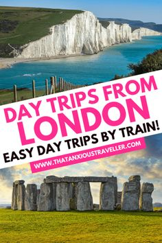 Looking for epic, yet simple, day trips from London by train? Look no further: here's 27 amazing day trips from London you'll love - and they couldn't be easier! See the best of England and beyond, including Brighton, Stonehenge, Oxford, Windsor Castle, Bath, Bristol, and the Cotswolds - plus trips to Wales, Paris, Brussels and Lille! It's everything you need for stress-free London day trips and UK staycations! #London #England #LondonTravel #EnglandTravel Cool Places To Visit, Places To Travel, Travel Destinations, Scotland Travel, Ireland Travel, Scotland Trip, Europe Travel Guide, Travel Guides, Travel Abroad