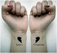 Best Friend Tattoo Design