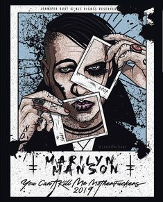 Arte Marilyn Manson, Chaos Lord, Cool Sketches, Band Posters, Photo Reference, Drawing People, Heavy Metal, Music Bands, Good Music