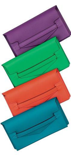 Hermes Clutches. I don't care that they're Hermes , I just like the colours x