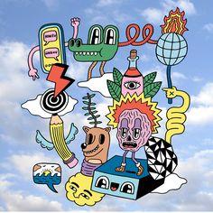 Graphic Illustration, Illustrations, Plakat Design, Funky Art, Cartoon Design, Psychedelic Art, Art Plastique, Doodle Art, Collage Art