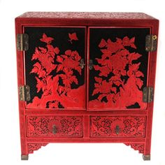 Chinese Cinnabar Lacquer Chest. : Lot 39 Israel, Auction, Chinese, Carving, Home Decor, Homemade Home Decor, Wood Carvings, Sculpting, Decoration Home