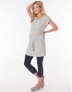 Soft Grey Under Bump Maternity Tunic | Seraphine