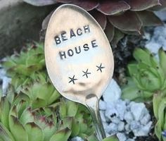 Homemade Spoon Garden   Plant Markers