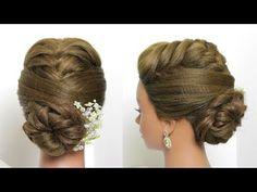 Bridal Updos For Long Hair. Fishtail Braids Low Bun - YouTube