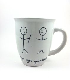 coffee cup I've got your back personalized by QuiteUniqueBoutique, $8.00