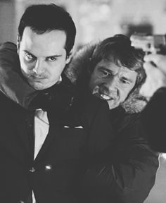 this is a great shot. there's moriarty, who knows sherlock wouldn't dare do something if it would hurt john. you can see john gritting his teeth, fully expecting sherlock to flee or take a shot at moriarty. he doesn't know how truly loyal sherlock is, but moriarty does. <- Whoa