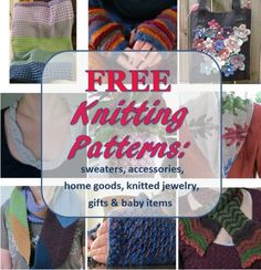 Free Knitting Patterns: Colorful Accessories, Home Goods, Knitted Jewelry, and Baby Things Baby Booties Knitting Pattern, Knitting Stiches, Easy Knitting Patterns, Free Knitting, Knitting Projects, Knitted Booties, Knitting Videos, Crochet Box Stitch, Knit Dishcloth