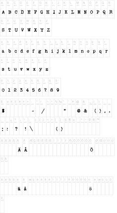 Another free vintage typewriter font.