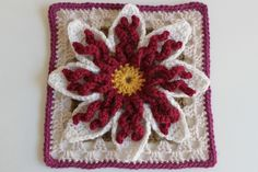 Gran's Garden Flower #21Square by craftyminx